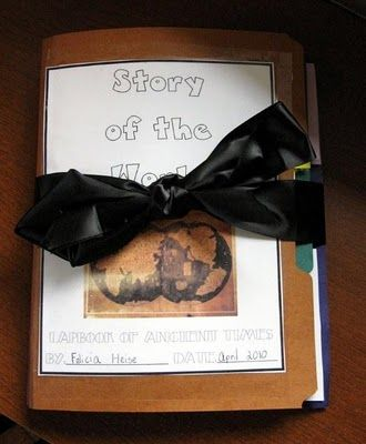 The Chronicle of the Earth: Story of the World Lapbook for Volume One -- more resources for Volumes 1 & 2 on blog -- this is FREE and absolutely amazing!