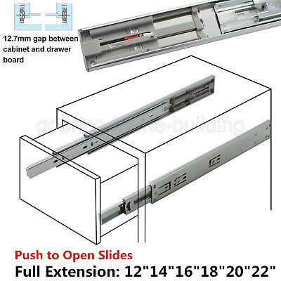 12 24 Full Extension Drawer Slides Side Mount Ball Bearing Heavy Duty 100 Lb Drawer Slides Soft Close Drawer Slides Slides