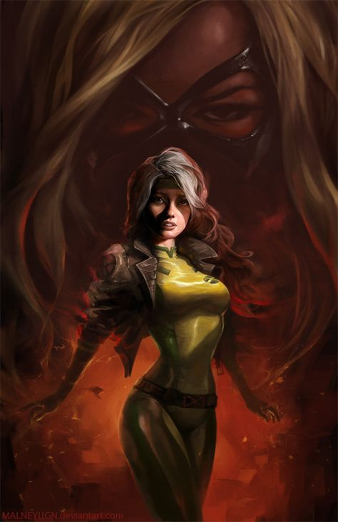 The Haunting of Anna Marie - Rogue Fan Art Created by Lam Nguyen (Malneyugn) / Find this Artist on DeviantArt & Blogspot
