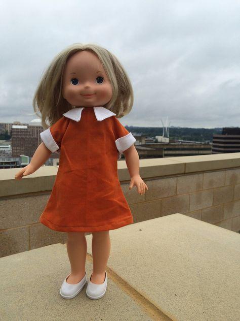 My Friend Mandy wearing homemade dress.