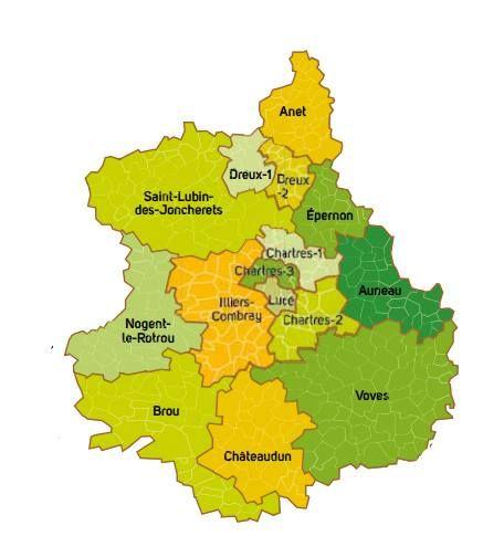 Carte De L Eure Et Loir Eure Et Loir Carte Departement 28