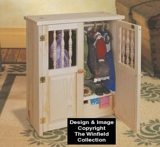 Doll Armoire Wood Pattern | Deadea | Pinterest | Wood Patterns, Armoires  And Dolls