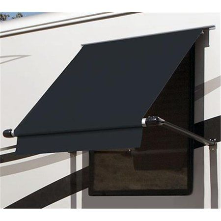Carefree Wg0454e4eb 4 5 Ft Simply Shade Window Awning Black Walmart Com In 2020 Window Awnings Window Shades Canvas Awnings