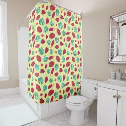 Sea Of Watermelon Shower Curtain Zazzle Com Curtains Bathroom