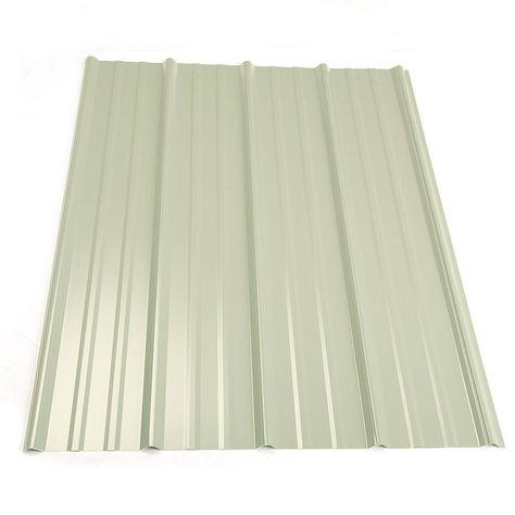 Metal Sales 8 Ft Classic Rib Steel Roof Panel In White 2313230 Steel Roof Panels Roof Panels Metal Roof Panels