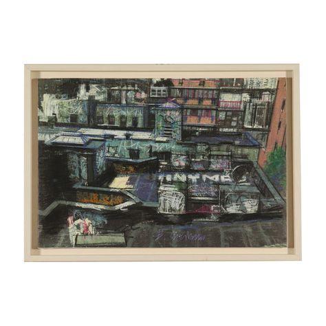 Chinatown Bernardo Siciliano Technique mixte sur Toile Années 2000