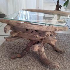 Table Basse Verre Pied En Bois Flotte Table Basse Verre Table