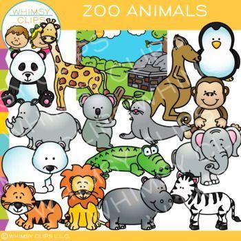 Zoo Animal Clip Art Cute Animal Clipart Clip Art Zoo Animals
