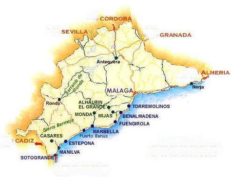 Estrecho de Gibraltar Map Card Spain Marbella spain and Morocco