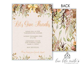 Our Let S Give Thanks Invitation Is