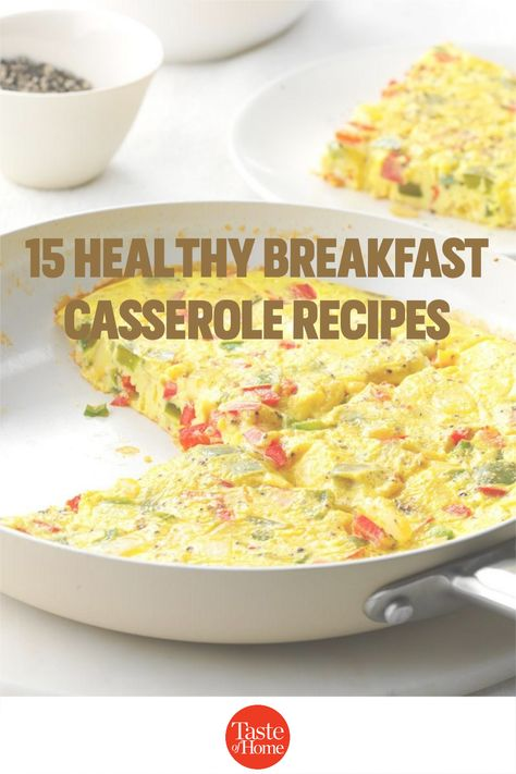 Start your day off right with a healthy breakfast casserole. Here are some tasty ideas.