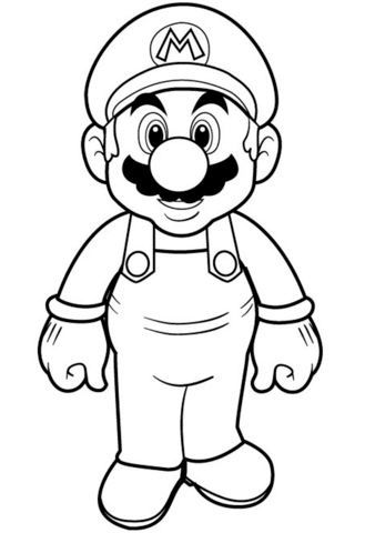 Teach How To Draw And Coloring For Kids Simple Example Coloring Pages Mario Super Mario Coloring Pages Mario Coloring Pages Princess Coloring Pages
