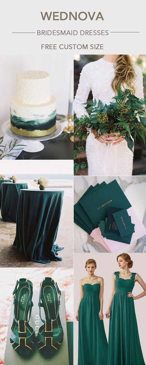2018 unique chiffon bridesmaid dress dark green strap dress with lace you can wear again best wedding inspirations #bridesmaids  popular bridesmaid dresses colors |popular bridesmaid dresses 2018 | popular bridesmaid dresses long |