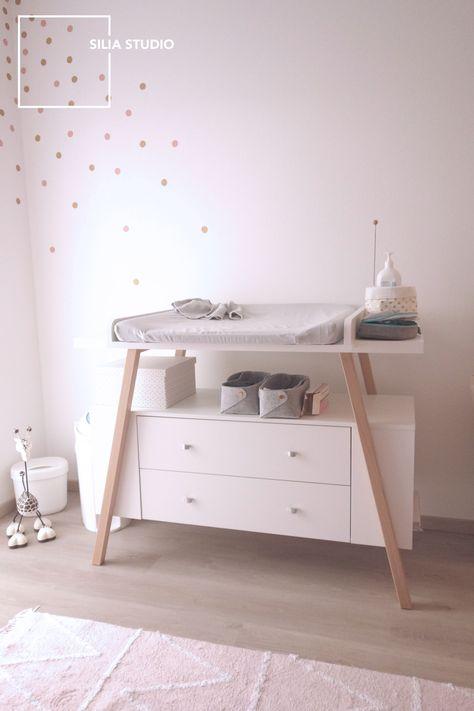 table à langer scandinave chambre bébé commode en 2019 ...