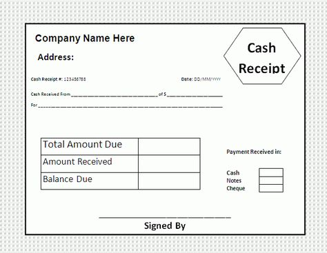 House Rental Invoice Template in Excel Format House Rental - cash receipt sample