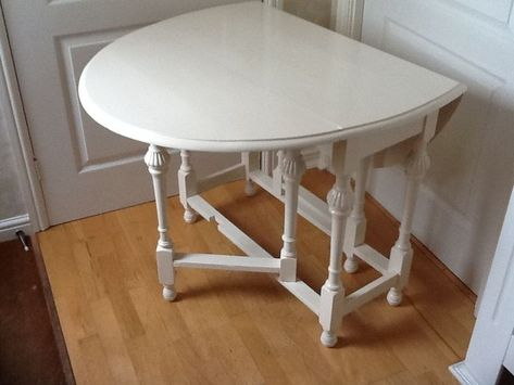 Painted Duncan Phyfe Drop Leaf Table With 3 Leafs Dining
