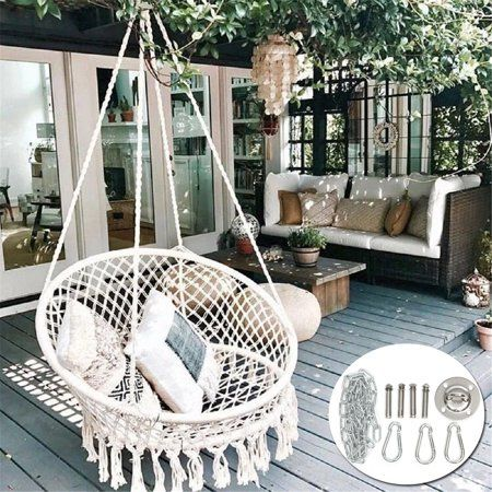 Patio Garden In 2020 Hanging Swing Chair Home Swinging Chair