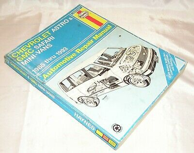Advertisement Ebay Haynes Repair Manual For Chevrolet Astro Gmc Mini Vans 1985 93 24010