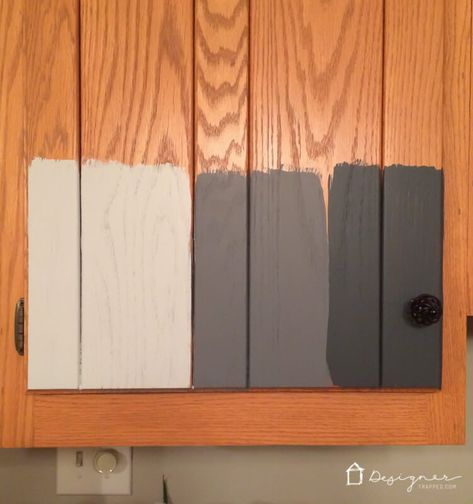 Learn how to paint your kitchen cabinets without sanding or priming. Painting your kitchen cabinets with this tutorial will save you time, money and get you professional results that last for years. Full tutorial with lots of step-by-step photos. #kitchencabinets #paintkitchencabinets #howtopaintkitchencabinets #diykitchencabinets #paintcabinets