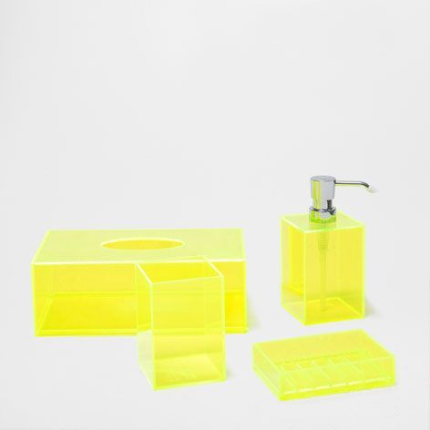 Neon Home Accessories Neon Yellow Bathroom Set Accessories