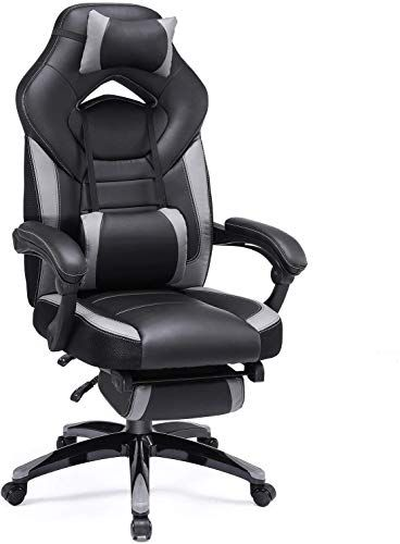 Beautiful Songmics Office Chair Ergonomic Executive Gaming Swivel Chair With Foldable Pull Out Footrest Racing Style E Racing Chair Gaming Chair Swivel Chair