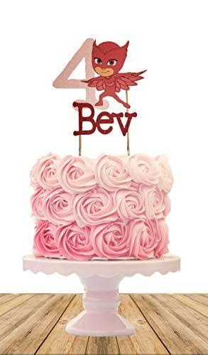 PJ MaskOwlette Personalized Cake Topper