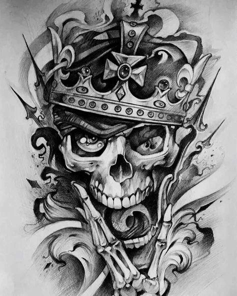35 Trendy Ideas For Tattoo Sleeve Sketch Draw Awesome Sleeve Tattoos Skull Tattoo Design Evil Skull Tattoo
