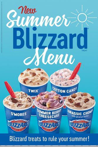Summer Blizzard Menu 2018 Summer Cheesecake Blizzard Menu Twix