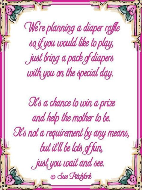 Baby Shower Wishing Well Sayings | ... We could do this, put it in the invitation...I have some of my 31 business items that we could raffle off for the diaper donation...