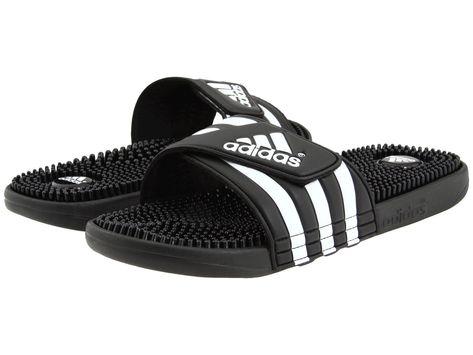 3c7ebdb869795 Mens Adidas Adissage Black Slides Shower Sandals Athletic Sport 078260 Size  6-15