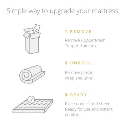 Naturally And Cool, CopperFresh Gel Memory Foam Mattress Topper By Sleep Studio