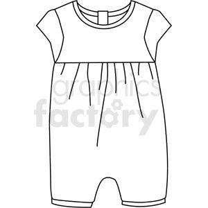 Black White Child Jumpsuits Vector Clipart Clip Art Vector Clothes Vector Clipart