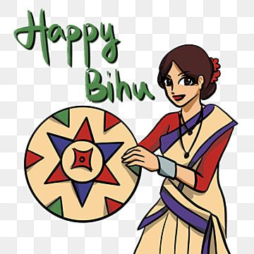 Happy Bihu Greeting Card In Cartoon And Anime Style Happy Bihu Greeting Png Transparent Clipart Image And Psd File For Free Download Anime Style Independence Day Greeting Cards Happy Holidays Greetings