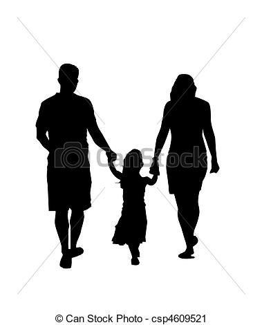 Dessin Pere Fille 家族 シルエット 歩くこと 母 父 娘 Csp4609521 画像あり シルエット 父 油絵