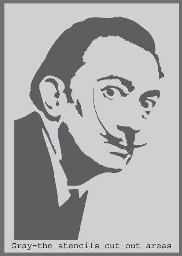 Salvador Dali stencil Home decor stencil art stencil Paint