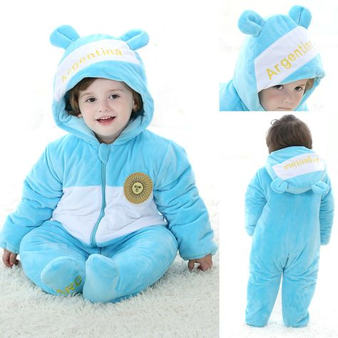 ab01cdce2398 Blue Argentina Country Costume Winter Onesie Kigurumi for Toddler ...