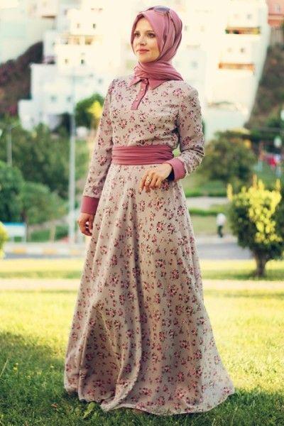 Cicekli Tesettur Sifon Elbise Modellericicekli Tesettur Sifon Elbise Modelleri Musluman Modasi Sifon Elbise Elbise Modelleri