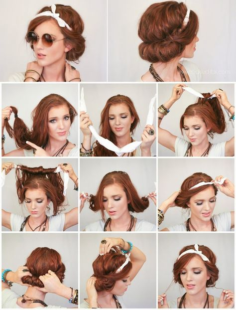 Headscarf Roll Hair Style - Full Tutorial - Style Hunt World   Makeup Tutorials   Home Remedies   Eyeliner Tips