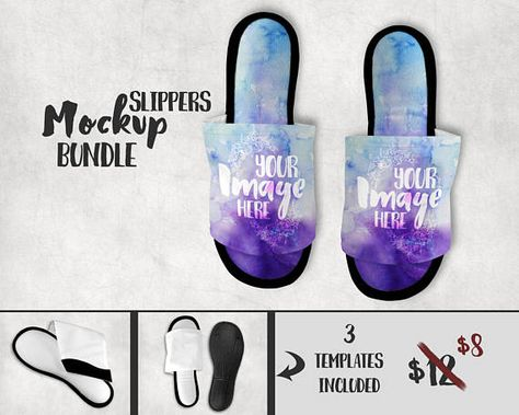 d70082743 Dye Sublimation slippers mockup template Add your own image
