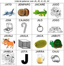 Lista De Palavras Com Silabas Simples Para Imprimir Com Imagens