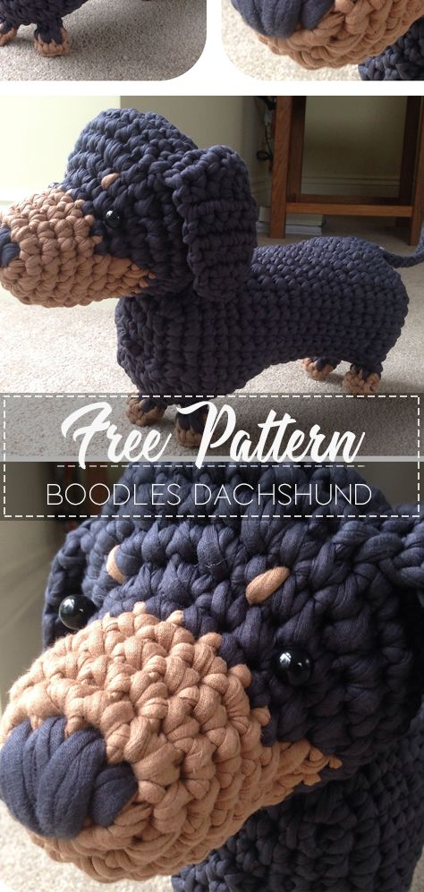 Dachshund dog free crochet amigurumi pattern – Ronja's Ami Friends | 997x474