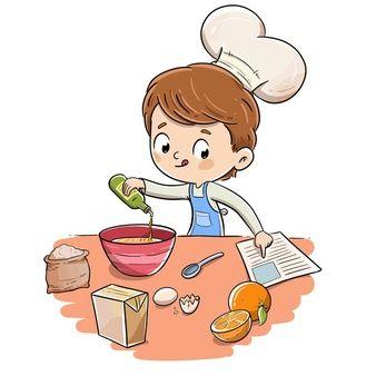 User592403 Freepik Pinturas Lindas Ninos Cocinando Cocinar Dibujo