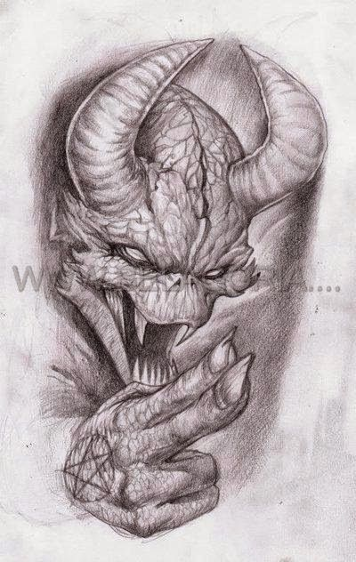 Disenos De Demonios Y Diablos Belagoria La Web De Los Tatuajes Arte Macabro Disenos De Unas Arte
