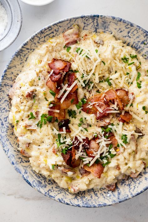 Bacon risotto with mascarpone - Simply Delicious