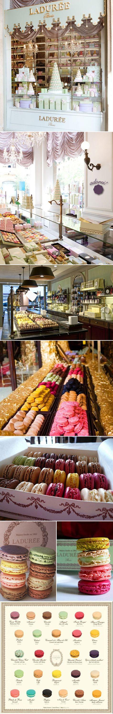 Laduree macaroons in Paris.... Little taste of heaven.