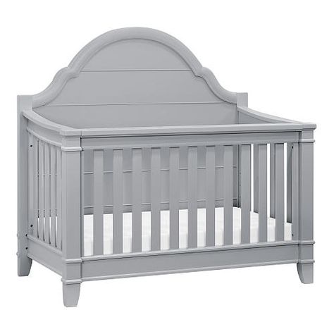 With its arched paneled headboard, tapered feet, and four in one convertibility, the Sullivan 4-in-1 Convertible crib celebrates transformative elegance. Poplar hardwood and JPMA certified ensures the highest safety standards for baby.<br><br>The Million Dollar Baby Classic Sullivan 4-in-1 Convertible Crib - Grey Features:<br><ul><li>Converts to toddler bed, daybed, and full-size bed (toddler and full-size bed conversion kit sold separately)</li><br><li>Hidden hardware construction with…
