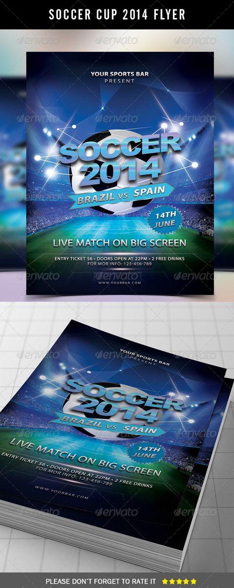 SOCCER TOURNAMENT FLYER DESIGN Design Pinterest Flyer template - azure flyer template