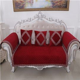 Groovy Classical Red Velvet Embroidery Design Cushion Slip Pabps2019 Chair Design Images Pabps2019Com