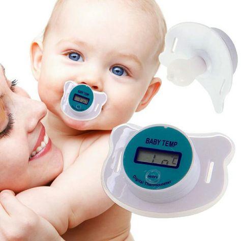 Termómetro chupete médico silicona Pacifier LCD Digital termómetro BEBES