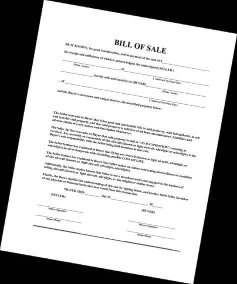 Empty Vehicle Bill Of Sale Template For Car Photo Of Bill Of Sale - dmv bill of sale